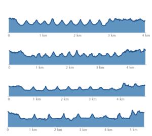 Statistieken van hardlopen in grafiekjes