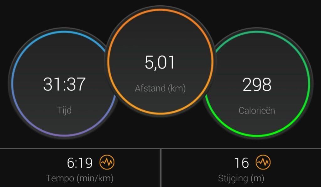 Resultaat 5 kilometer