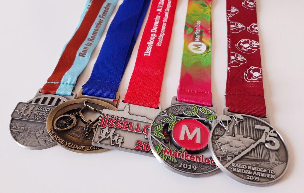5 medailles door het hardlopen