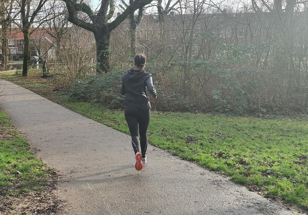 Marlies aan het hardlopen