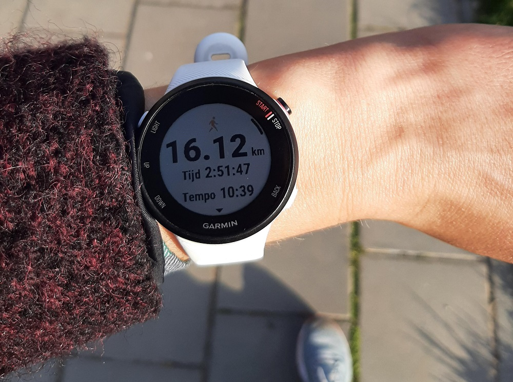 10 Engelse mijl op het sporthorloge