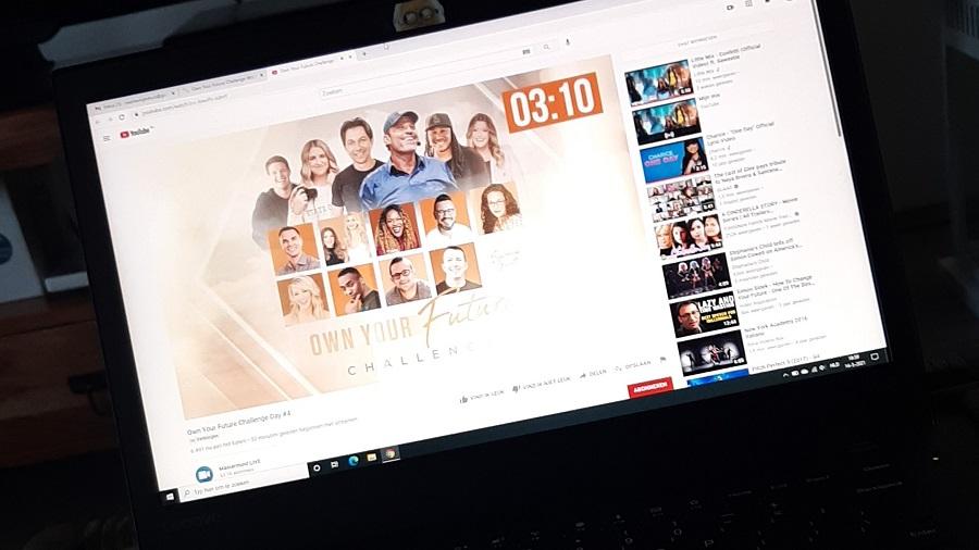 Aftellen voor de aflevering op YouTube